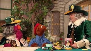 Telly, Baby Bear, the Quacker Duck Man, Bobby Moynihan, Sesame Street Episode 4325 Porridge Art season 43