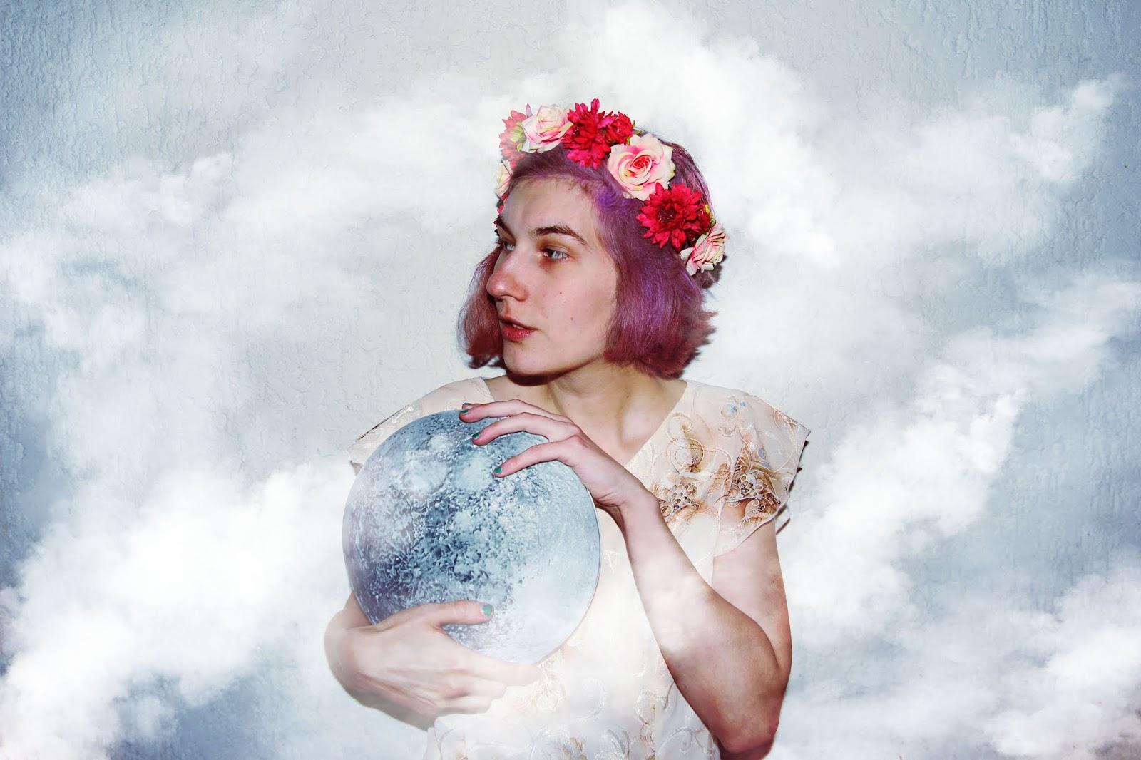 filipa canic, youarethepoet, you are the poet blog, filipa canic blog, moonchild, moon, pastel hair,