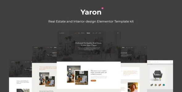 Best Real Estate and Interior Design Elementor Template kit