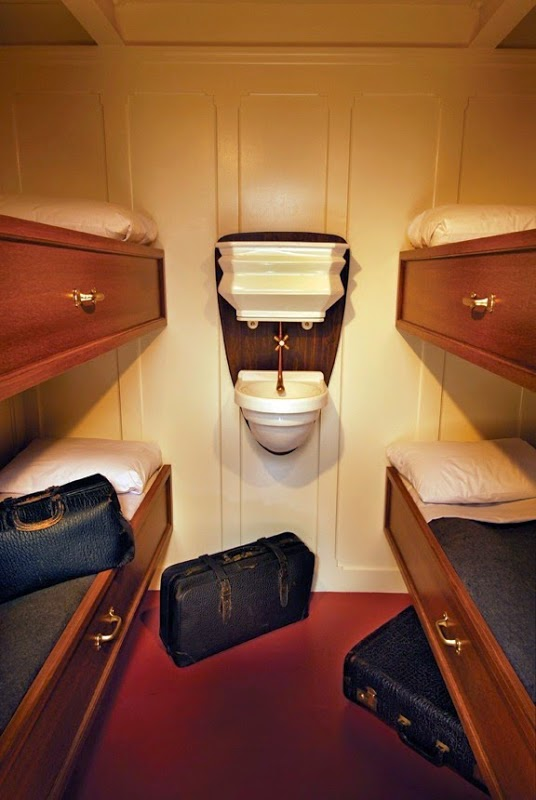 The interior of a Third Class Cabin. - The Titanic Museum in Branson