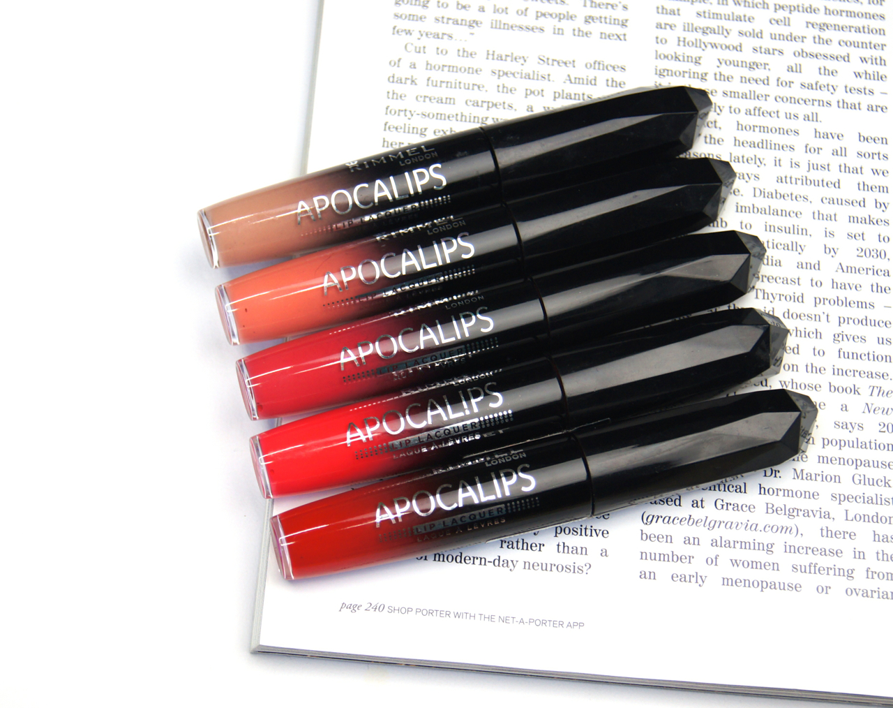 rimmel apocalips lip lacquers review swatches