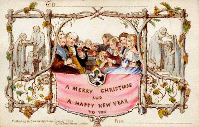 The first known commercially produced Christmas card
