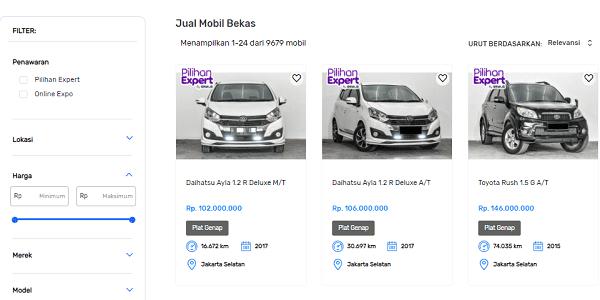 tempat jual beli mobil online terbaik