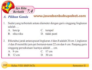 Jawaban Matematika Kelas 8 Ayo Kita Berlatih 7.4 Halaman 102 103 104 www.simplenews.me