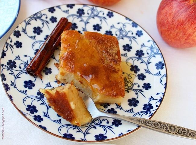 Γαλατόπιτα μήλου με σιρόπι κανέλας-μηλίτη