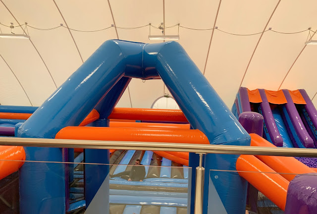 view of inflata nation from cafe area