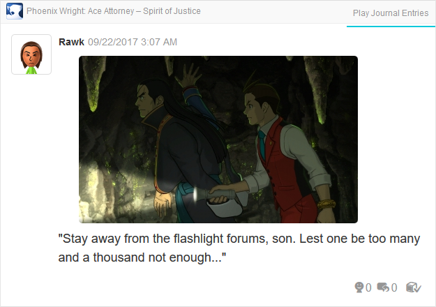 Phoenix Wright Ace Attorney Spirit of Justice Apollo Dhurke flashlight cave