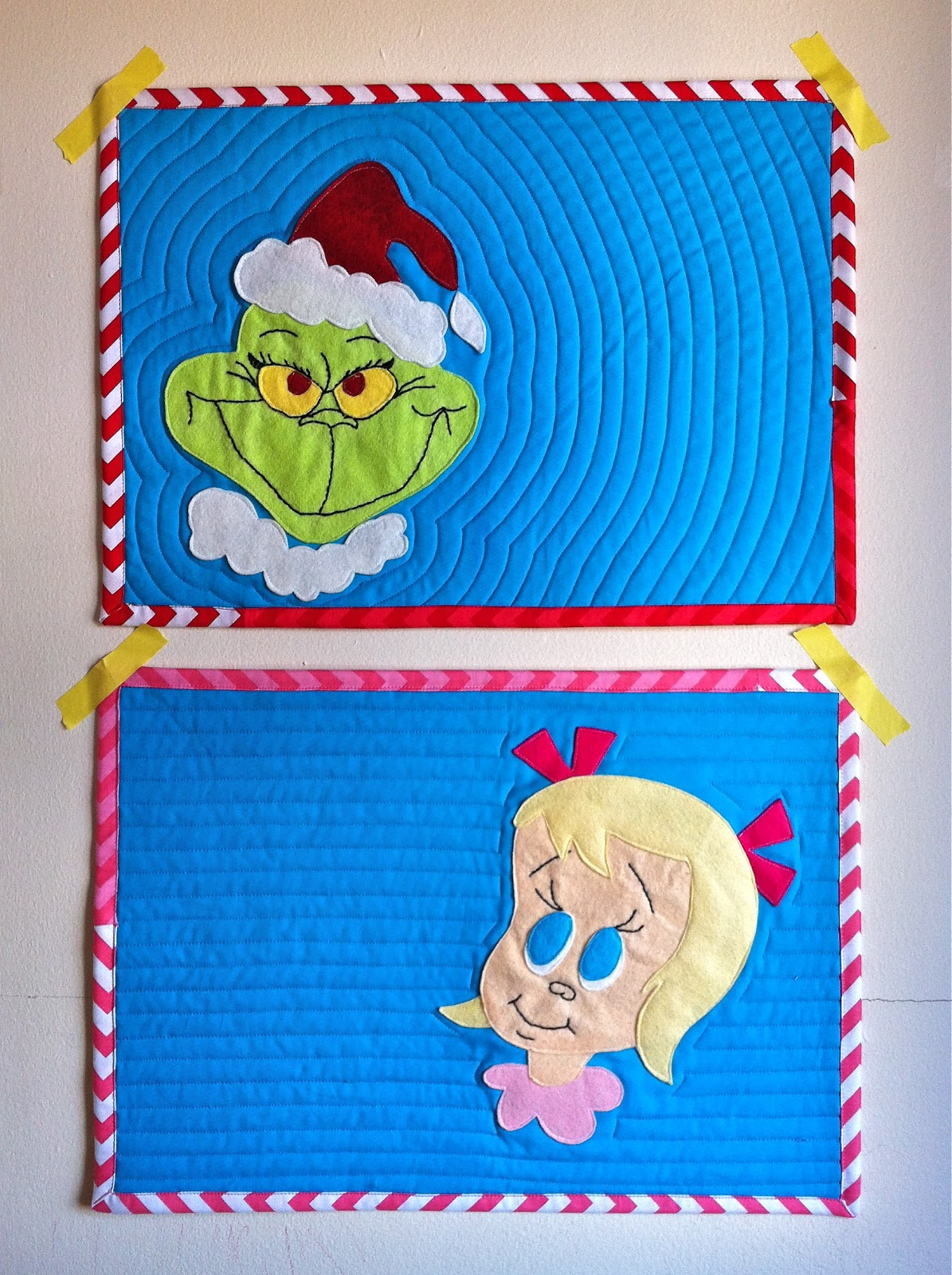 A Little Gray Grinch Placemats With Free Pattern
