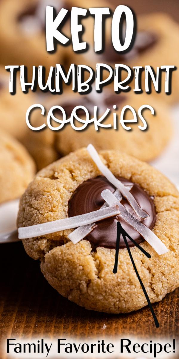 Keto Chocolate Thumbprint Cookies - These keto chocolate thumbprint cookies are a low carb and gluten-free version of the classic shortbread favorite.  #keto #lowcarb #glutenfree #sugarfree #grainfree #cookies #cookie #recipe #chocolate #thumbprint #easy | bobbiskozykitchen.com