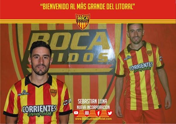 Oficial: Boca Unidos, firma Sebastián Luna
