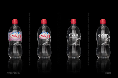 Green Pear Diaries, diseño, packaging, minimalismo, Evian