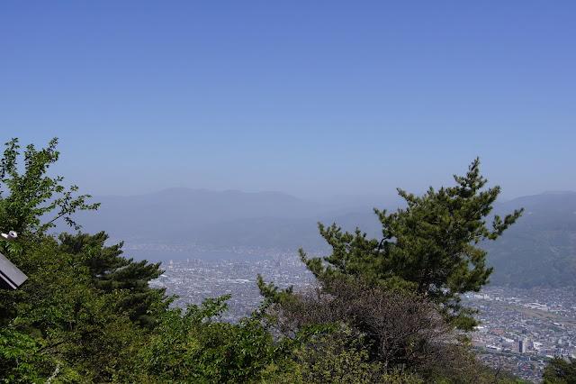 峠の茶屋から見た諏訪湖です。