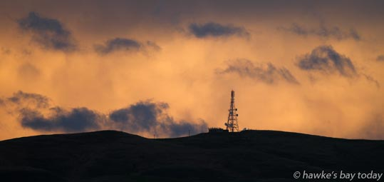 Clouds, late afternoon light, sunset, weather above Mt Erin , Havelock North. photograph