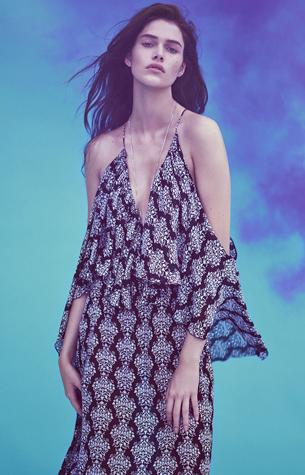 vestido estampado primavera verano Zara