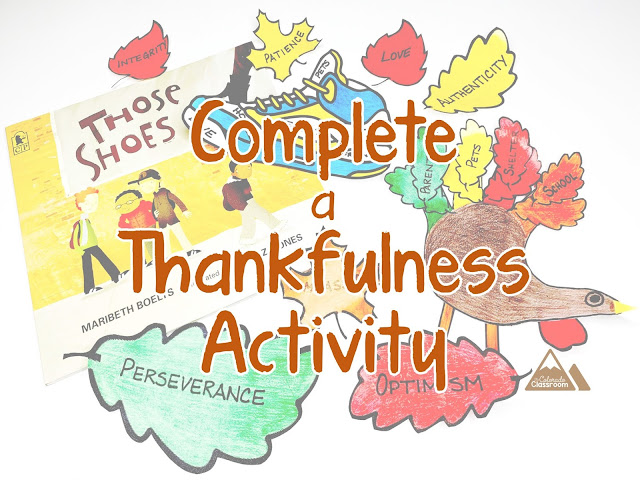 Complete a Thankfulness Activity