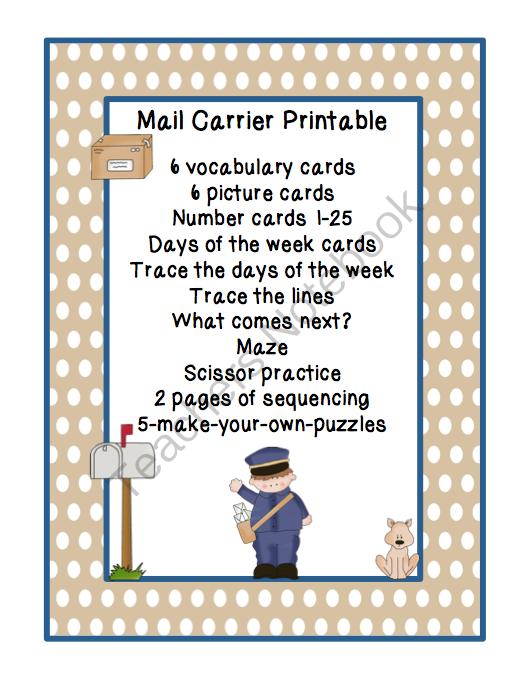 October 2013 Preschool Printables