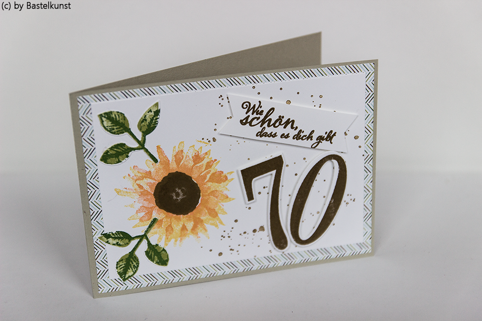 BASTELKUNST: Geburtstagskarte zum 70. - Auftragsarbeit