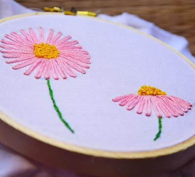 Hướng dẫn thêu hoa cúc - Hình 10