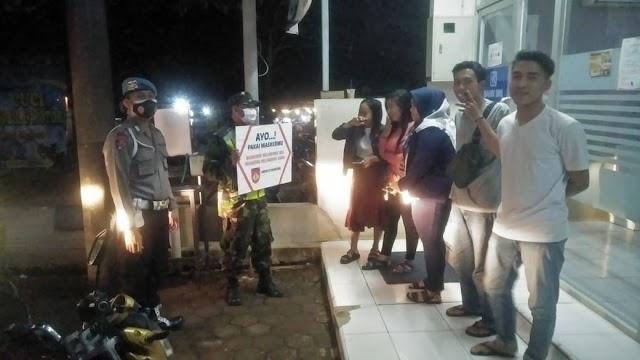 Peduli Warga Binaan, Koramil Jajaran Kodim Batang Bersama Dinas Terkait Laksanakan Operasi Yustisi