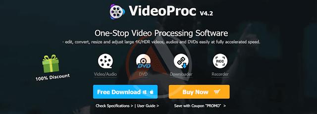 أفضل برنامج تحرير فيديو متكامل VideoProc مع مسجل شاشه