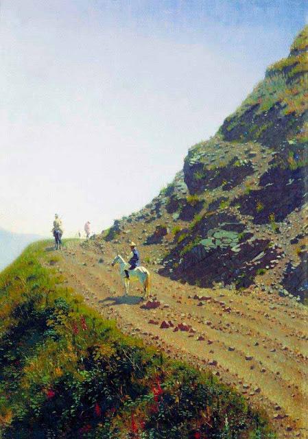 Василий Васильевич Верещагин - Кочевая дорога в горах Алатау. 1869-1870