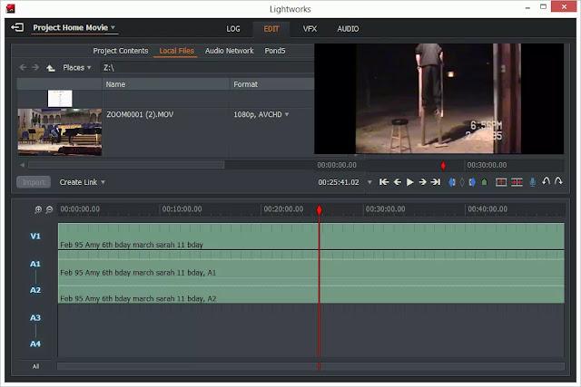 Lightworks: برنامج مونتاج الفيديو سهل الاستخدام