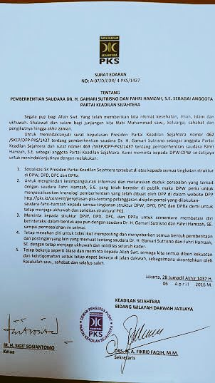 Surat Rahasia Pemecatannya Bocor, Fahri Hamzah 'Ngamuk' di Twitter, Bilang Sohibul Iman....