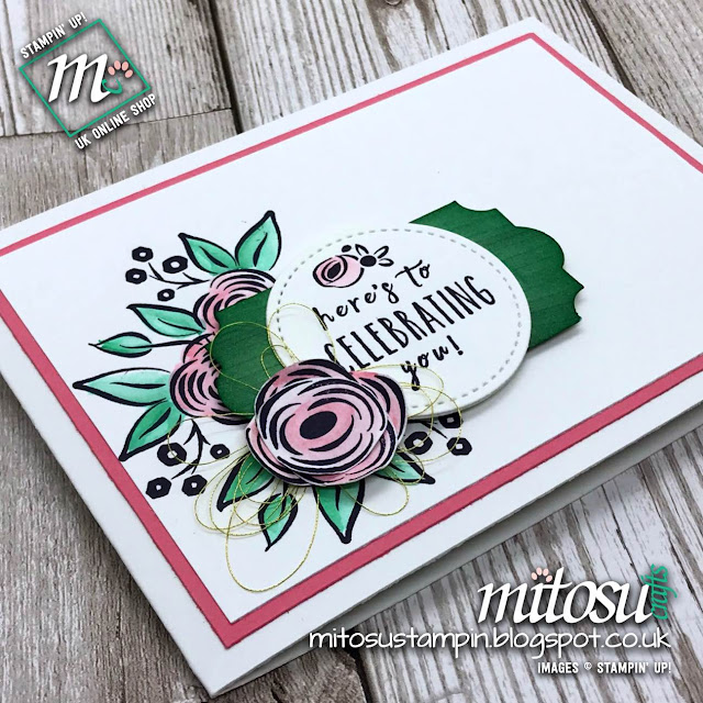 Perennial Birthday by Stampin' Up! for Paper Craft Crew Card Sketch Challenge #PCC274 from Mitosu Crafts UK Online Shop