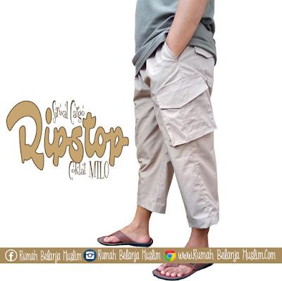 Celana Sirwal Cargo Ripstop Coklat Milo