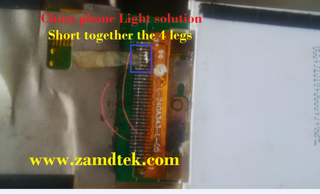 China phones keypad and Screen light solution