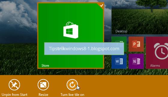 Cara Mengaktifkan dan Menonaktifkan Live Tile di Start Screen Windows 8.1