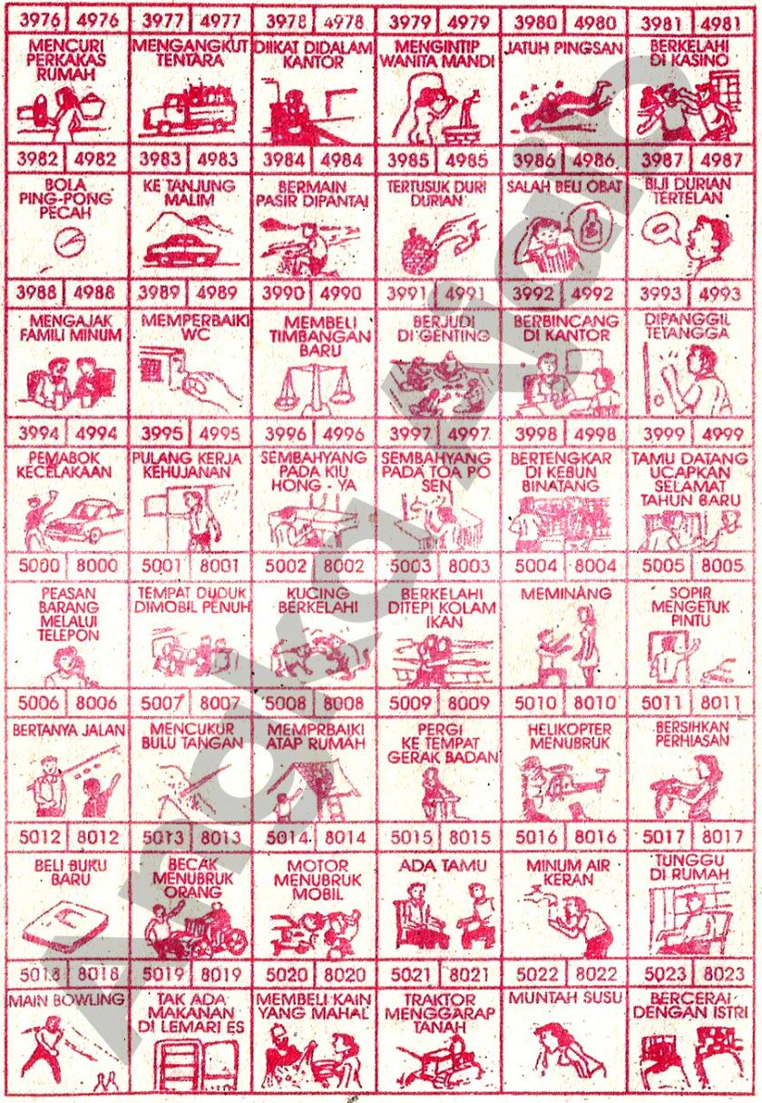 Buku Mimpi 4D Bergambar 3976-5023
