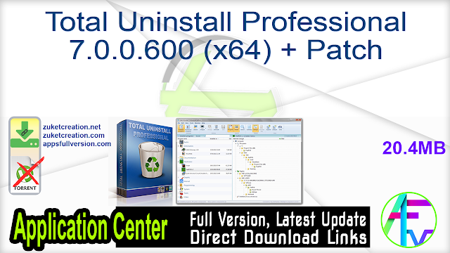 Total Uninstall Professional 7.0.0.600 (x64) + Patch