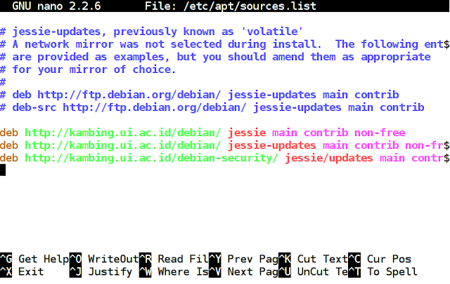 File sources.list debian