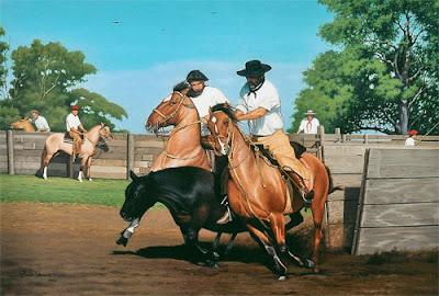 caballos criollos pintura
