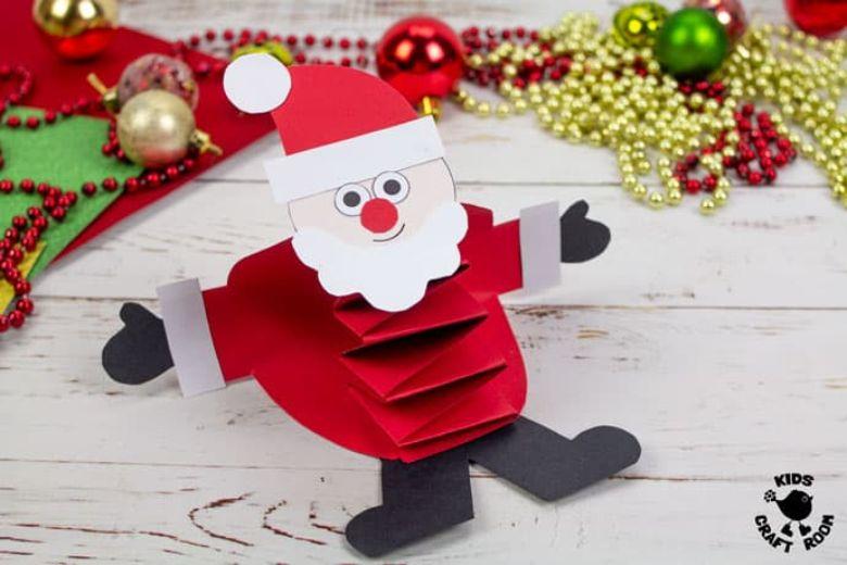 printable pop up Santa craft