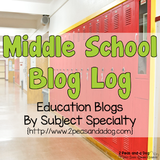 A great collection of middle school teacher blogs.