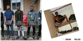 Yahoo boy caught hiding in wardrobe as EFCC stormed their hideout