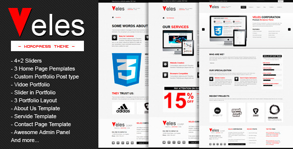 VELES Wordpress Theme Free Download.