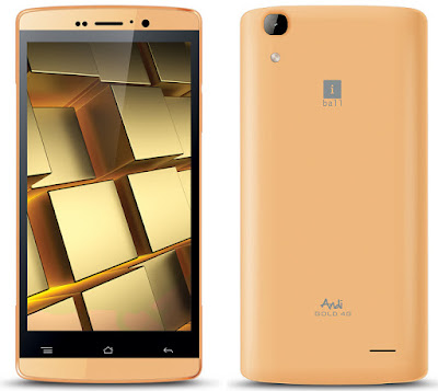iBall Andi Gold 4G smartphone with 3000mAh Battery launched at Rs 6499