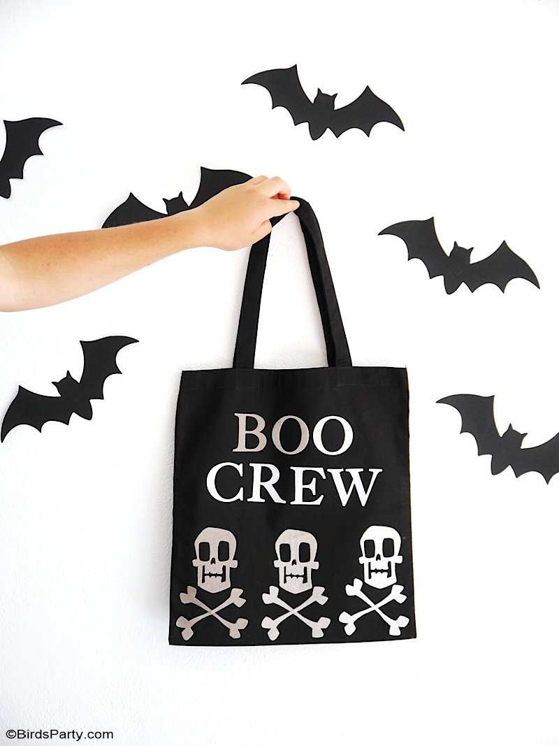 DIY Sacs Fourre-Tout d'Halloween Sans Couture - projet facile pour les friandises Halloween avec une machine Big Shot de Sizzix! by BIrdsParty.com @birdsparty #halloween #diy #halloweendiy