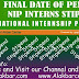 Final Date of Pending Stipend of  NIP Interns