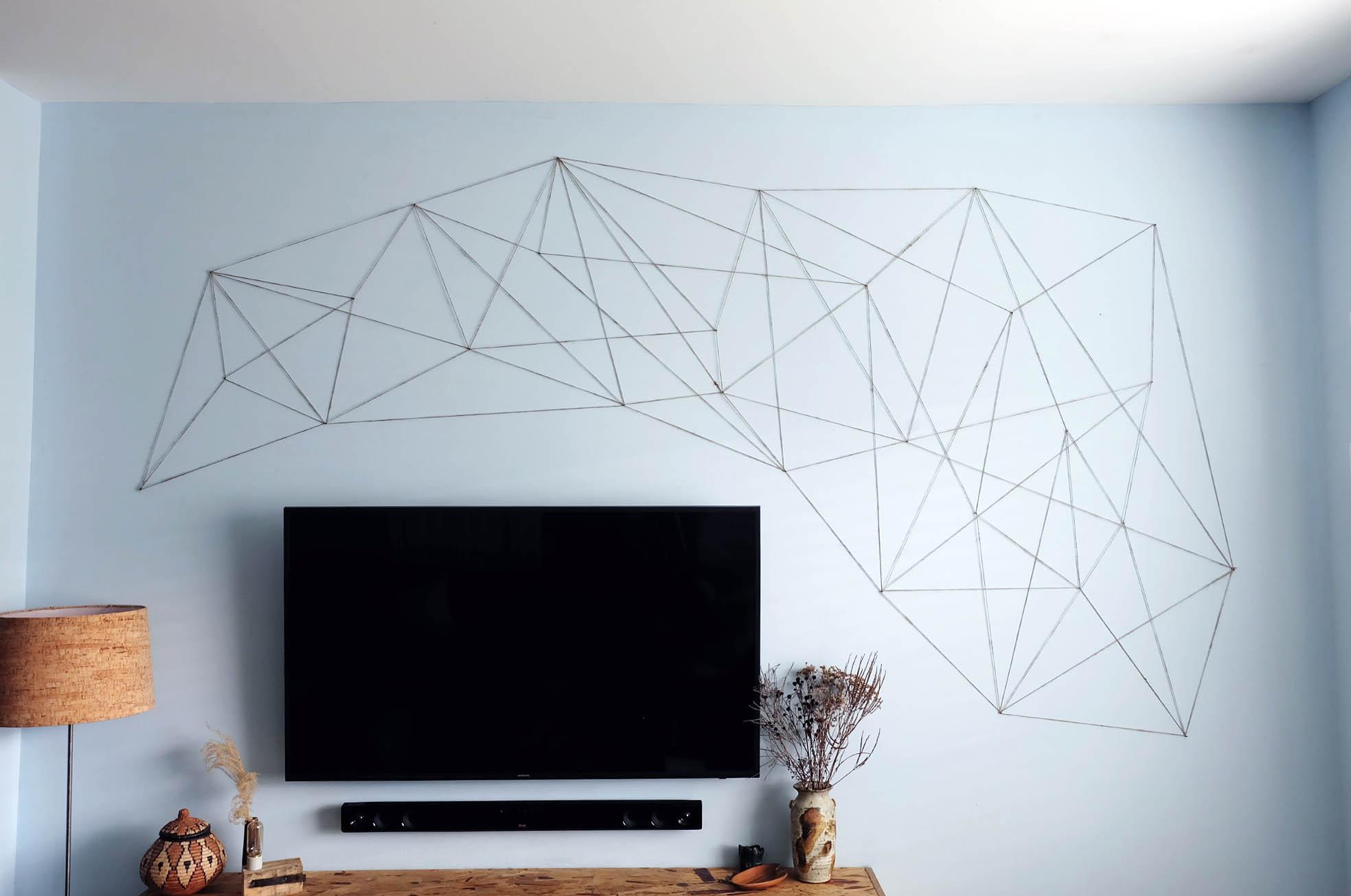 art string decor diy design wall hanging mid-century boho