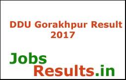 DDU Gorakhpur Result 2017