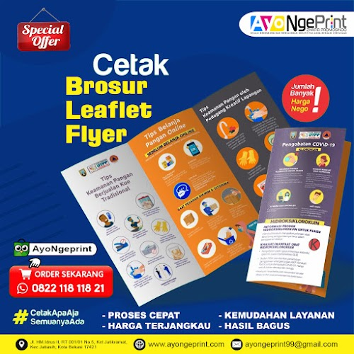 Cetak Brosur Flyer Leaflet Murah di Cipayung, Jakarta Timur