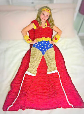 crochet Superwoman afghan