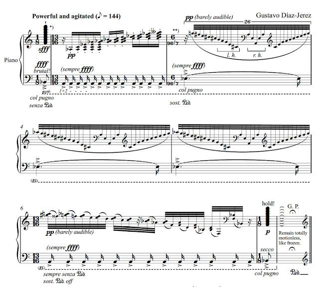 Score for Gustavo Díaz-Jerez's Metaludios II