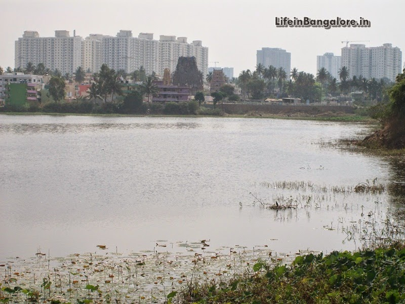 Begur Lake with DLF Westend Heights and Hiranandani Visible