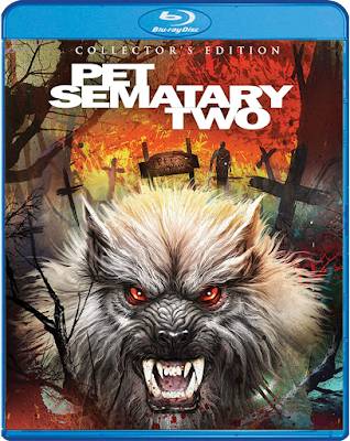 Cover art for Scream Factory's Collector's Edition Blu-ray of PET SEMATARY TWO!