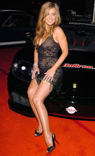 Carmen Electra Legs Expose In Front Of Car